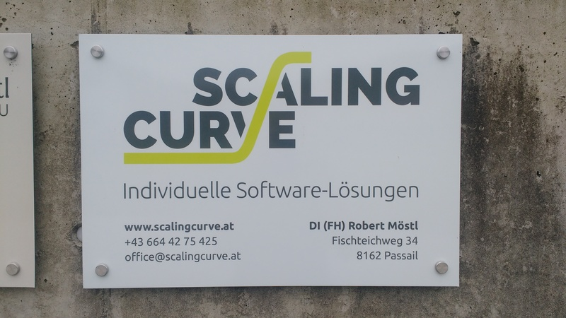 Physical Scaling Curve Company Sign